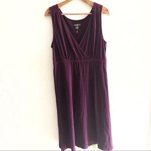 Eddie Bauer Plum Sleeveless Casual Cotton Dress